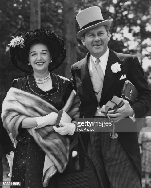 Actress Bebe Daniels and her husband actor Ben Lyon arrive at Ascot on Gold Cup Day UK 15th June 1950