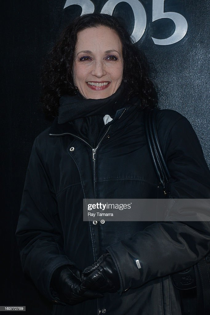 Actress <a gi-track='captionPersonalityLinkClicked' href=/galleries/search?phrase=Bebe+Neuwirth&family=editorial&specificpeople=210769 ng-click='$event.stopPropagation()'>Bebe Neuwirth</a> leaves the 'Good Day New York' taping at the Fox 5 Studios on March 15, 2013 in New York City.