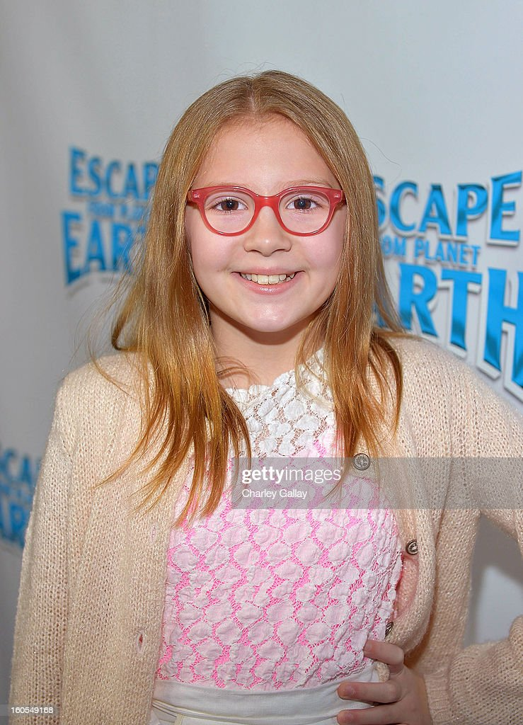 Actress Bebe Wood attends the 'Escape From Planet Earth' premiere presented by The Weinstein Company in partnership with Sabra at Mann Chinese 6 on February 2, 2013 in Los Angeles, California.
