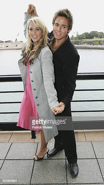 Actress Bec Cartwright and actor Jason Smith attend the 2005 TV Week Logies Nominations at the Quay restaurant April 4 2005 in Sydney