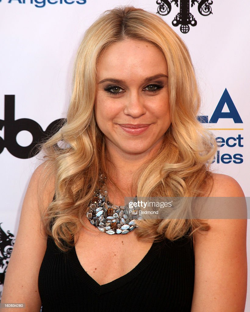 Actress Becca Tobin arrives at APLA and The Abbey's 12th Annual 'The Envelope Please' Oscar Viewing Party at The Abbey on February 20, 2013 in West Hollwwod, California.