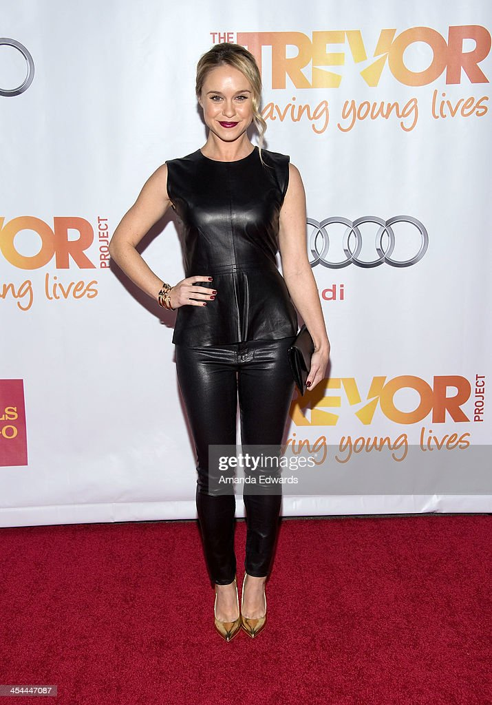 Actress <a gi-track='captionPersonalityLinkClicked' href=/galleries/search?phrase=Becca+Tobin&family=editorial&specificpeople=5391184 ng-click='$event.stopPropagation()'>Becca Tobin</a> arrives at the TrevorLIVE Los Angeles Benefit celebrating The Trevor Project's 15th anniversary at the Hollywood Palladium on December 8, 2013 in Hollywood, California.