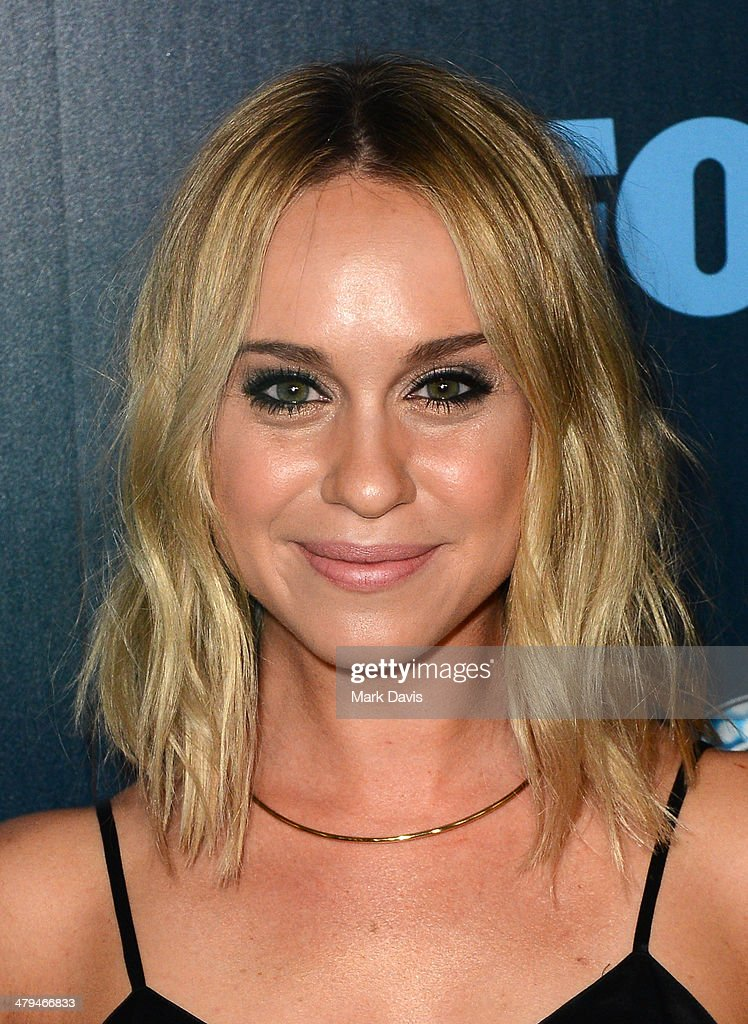 Actress <a gi-track='captionPersonalityLinkClicked' href=/galleries/search?phrase=Becca+Tobin&family=editorial&specificpeople=5391184 ng-click='$event.stopPropagation()'>Becca Tobin</a> attends Fox's 'GLEE' 100th Episode Celebration held at Chateau Marmont on March 18, 2014 in Los Angeles, California.