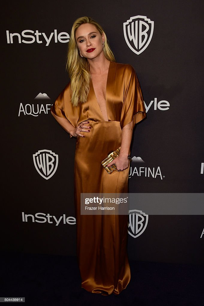 Actress Becca Tobin attends InStyle and Warner Bros 73rd Annual Golden Globe Awards PostParty at The Beverly Hilton Hotel on January 10 2016 in...