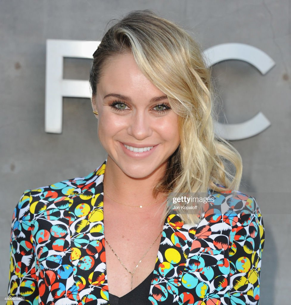 Actress Becca Tobin attends Marc By Marc Jacobs Fall/Winter 2014 Preview at Marc Jacobs on June 20 2014 in Los Angeles California