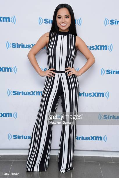 Actress Becky G of the new film 'Power Rangers' visits at SiriusXM Studios on March 1 2017 in New York City