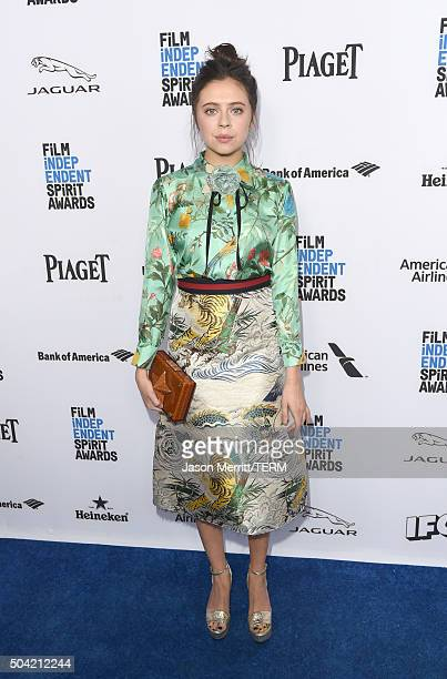 Actress Bel Powley attends 2016 Film Independent Filmmaker Grant and Spirit Award Nominees Brunch at BOA Steakhouse on January 9 2016 in West...
