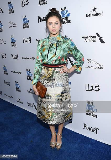Actress Bel Powley attends the 2016 Film Independent Filmmaker Grant and Spirit Award Nominees Brunch at BOA Steakhouse on January 9 2016 in West...