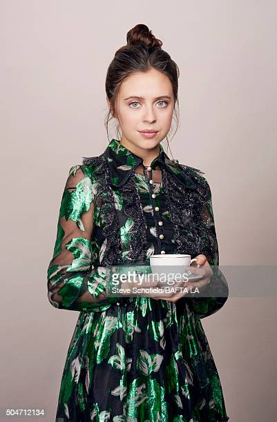 Actress Bel Powley poses for a portrait at the BAFTA Los Angeles Awards Season Tea at the Four Seasons Hotel on January 9 2016 in Los Angeles...