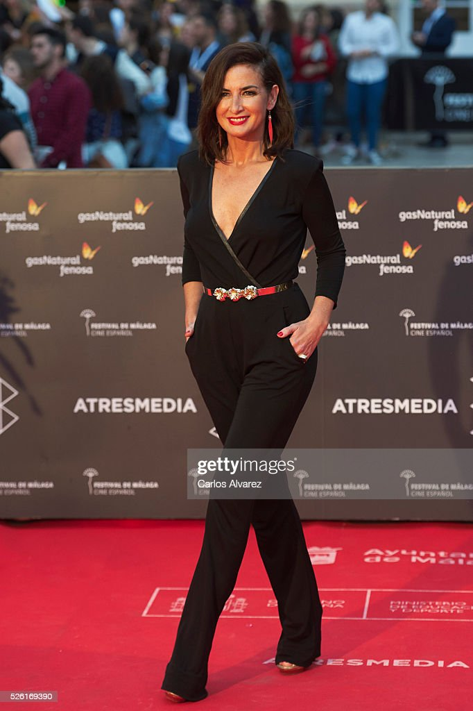 Actress Belen Lopez attends 'Koblic' premiere at the Cervantes Teather during the 19th Malaga Film Festival on April 29, 2016 in Malaga, Spain.