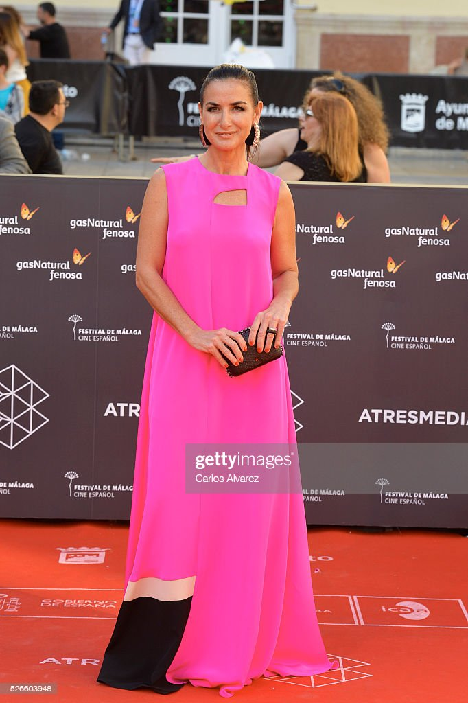 Actress Belen Lopez attends 'Nuestros Amantes' premiere at the Cervantes Teather during the 19th Malaga Film Festival on April 30, 2016 in Malaga, Spain.