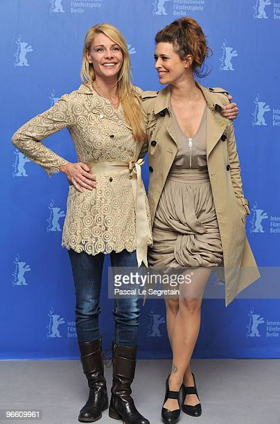 Actress Belen Rueda and Angie Cepeda attend the 'El Mal Ajeno' Photocall during day two of the 60th Berlin International Film Festival at the Grand...