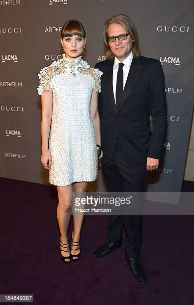 Actress Bella Heathcote and writer Andrew Dominik arrive at LACMA 2012 Art Film Gala Honoring Ed Ruscha and Stanley Kubrick presented by Gucci at...