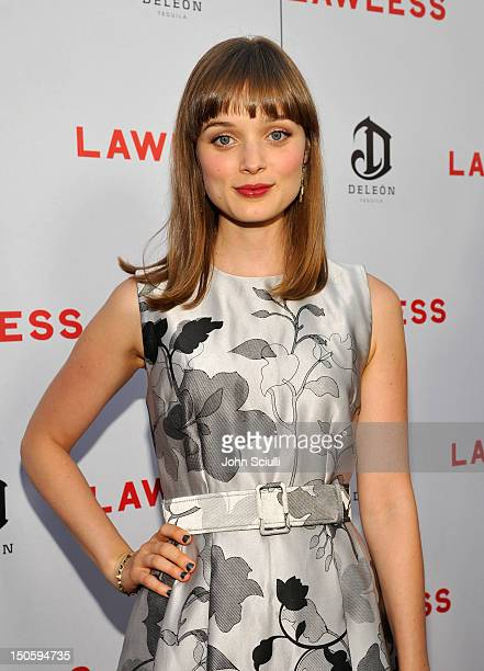 Actress Bella Heathcote arrives at 'LAWLESS' premiere in Los Angeles hosted By DeLeon and Presented by The Weinstein Company Revolt Films Yucapia...