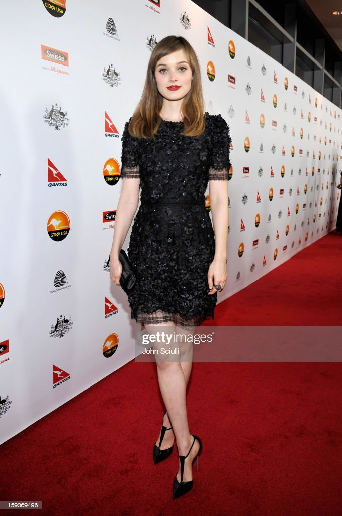 Actress Bella Heathcote arrives at the 2013 G'Day USA Los Angeles Black Tie Gala at JW Marriott Los Angeles at L.A. LIVE on January 12, 2013 in Los Angeles, California.