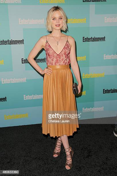Actress Bella Heathcote arrives at the Entertainment Weekly celebration at Float at Hard Rock Hotel San Diego on July 11 2015 in San Diego California