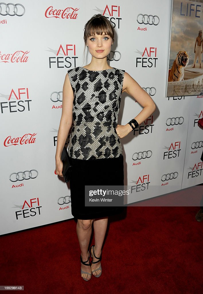 Actress Bella Heathcote arrives at the 'Los Angeles Times Young Hollywood' Panel during 2012 AFI Fest 2012 presented by Audi at Grauman's Chinese Theatre on November 2, 2012 in Hollywood, California.
