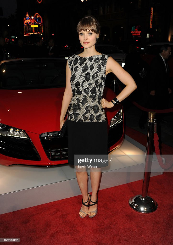 Actress <a gi-track='captionPersonalityLinkClicked' href=/galleries/search?phrase=Bella+Heathcote&family=editorial&specificpeople=6890694 ng-click='$event.stopPropagation()'>Bella Heathcote</a> arrives at the 'Los Angeles Times Young Hollywood' Panel during 2012 AFI Fest 2012 presented by Audi at Grauman's Chinese Theatre on November 2, 2012 in Hollywood, California.