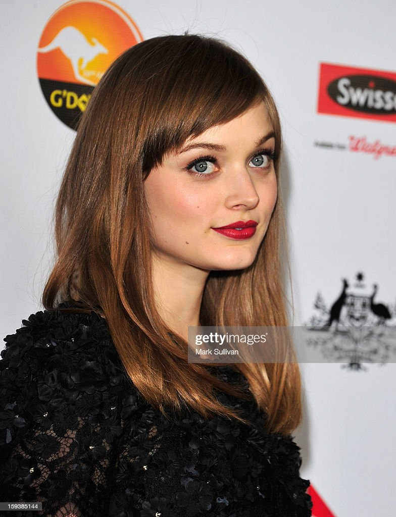 Actress Bella Heathcote arrives for the G'Day USA Black Tie Gala held at at the JW Marriot at LA Live on January 12, 2013 in Los Angeles, California.