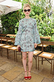 Actress Bella Heathcote attends CFDA/Vogue Fashion Fund Show and Tea at Chateau Marmont on October 20 2015 in Los Angeles California