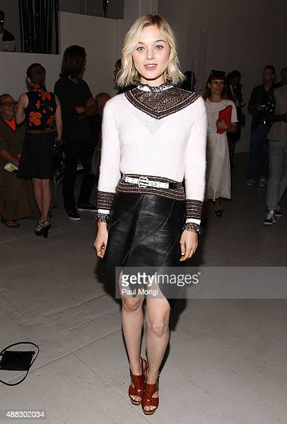 Actress Bella Heathcote attends Rodarte Spring 2016 at New York Fashion Week at Center 548 on September 15 2015 in New York City
