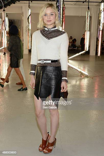 Actress Bella Heathcote attends Rodarte Spring 2016 during New York Fashion Week at Center 548 on September 15 2015 in New York City