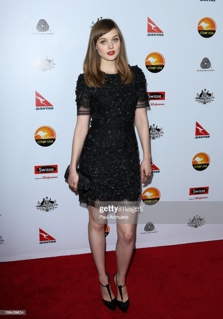 Actress Bella Heathcote attends the 2013 G'Day USA Los Angeles Black Tie Gala at JW Marriott Los Angeles at L.A. LIVE on January 12, 2013 in Los Angeles, California.