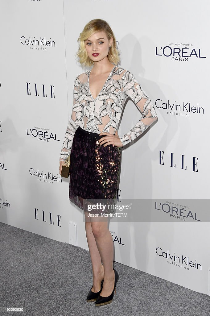 Actress Bella Heathcote attends the 22nd Annual ELLE Women in Hollywood Awards at Four Seasons Hotel Los Angeles at Beverly Hills on October 19 2015...