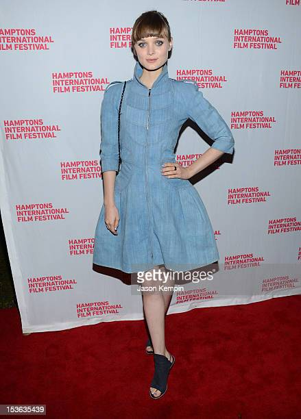 Actress Bella Heathcote attends the closing night screening of 'Not Fade Away' during the 20th Hamptons International Film Festival at Guild Hall on...