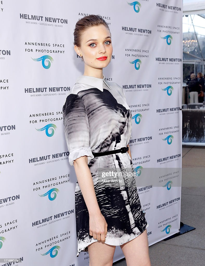 Actress Bella Heathcote attends the Helmut Newton opening night exhibit at Annenberg Space For Photography on June 27, 2013 in Century City, California.