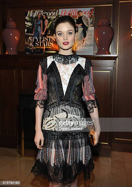 Actress Bella Heathcote attends The Hollywood Reporter and Jimmy Choo's Power Stylists Dinner at Sunset Tower on March 15 2016 in Los Angeles...