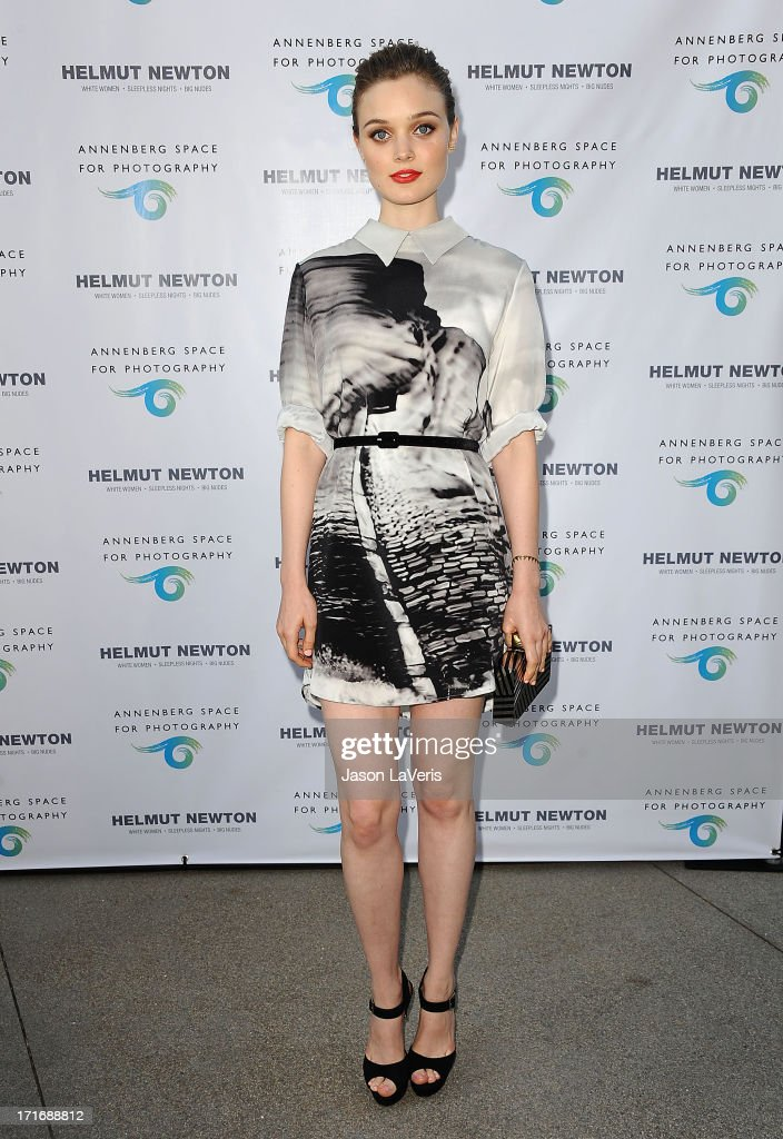 Actress <a gi-track='captionPersonalityLinkClicked' href=/galleries/search?phrase=Bella+Heathcote&family=editorial&specificpeople=6890694 ng-click='$event.stopPropagation()'>Bella Heathcote</a> attends the opening of 'Helmut Newton: White Women - Sleepless Nights - Big Nudes' at Annenberg Space For Photography on June 27, 2013 in Century City, California.