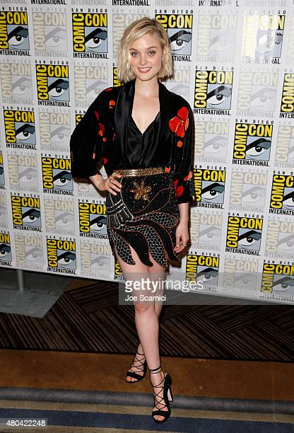 Actress Bella Heathcote attends the 'Pride And Prejudice And Zombies' photo call during ComicCon International 2015 at the Hilton Bayfront on July 11...