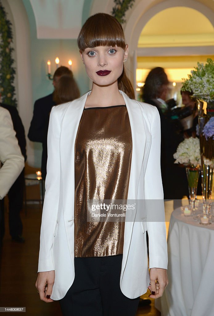 Actress <a gi-track='captionPersonalityLinkClicked' href=/galleries/search?phrase=Bella+Heathcote&family=editorial&specificpeople=6890694 ng-click='$event.stopPropagation()'>Bella Heathcote</a> attends the Vanity Fair and Gucci Party at Hotel Du Cap during 65th Annual Cannes Film Festival on May 19, 2012 in Antibes, France.