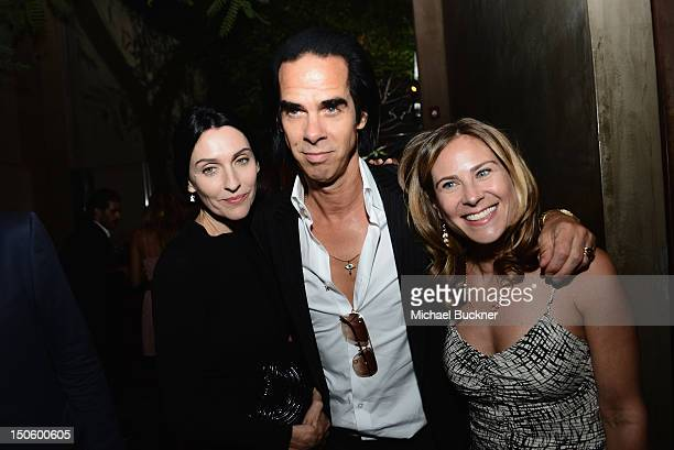 Actress Bella Heathcote Director Andrew Dominik Susie Bick and Screenwriter/Composer Nick Cave attend the after party for the 'LAWLESS' premiere in...