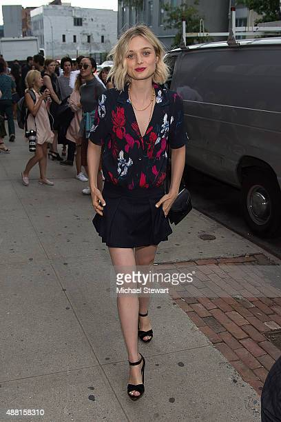Actress Bella Heathcote is seen in the Garment Distric on September 13 2015 in New York City