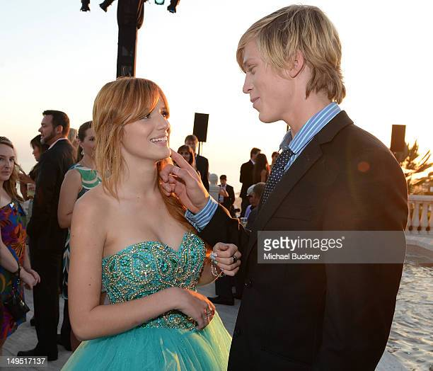 Actress Bella Thorne and actor Tristan Klier attend Oceana's SeaChange Summer Party at a private residence on July 29 2012 in Laguna Beach California