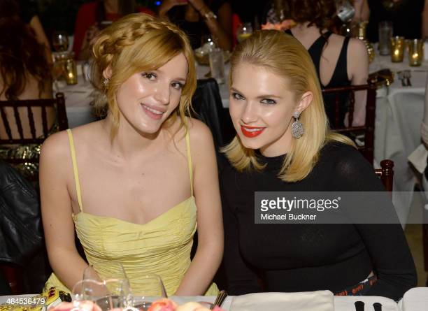 Actress Bella Thorne and actress Claudia Lee attend ELLE's Annual Women in Television Celebration on January 22 2014 in West Hollywood California