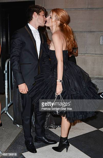 Actress Bella Thorne and Gregg Sulkin are seen on September 16 2015 in New York City