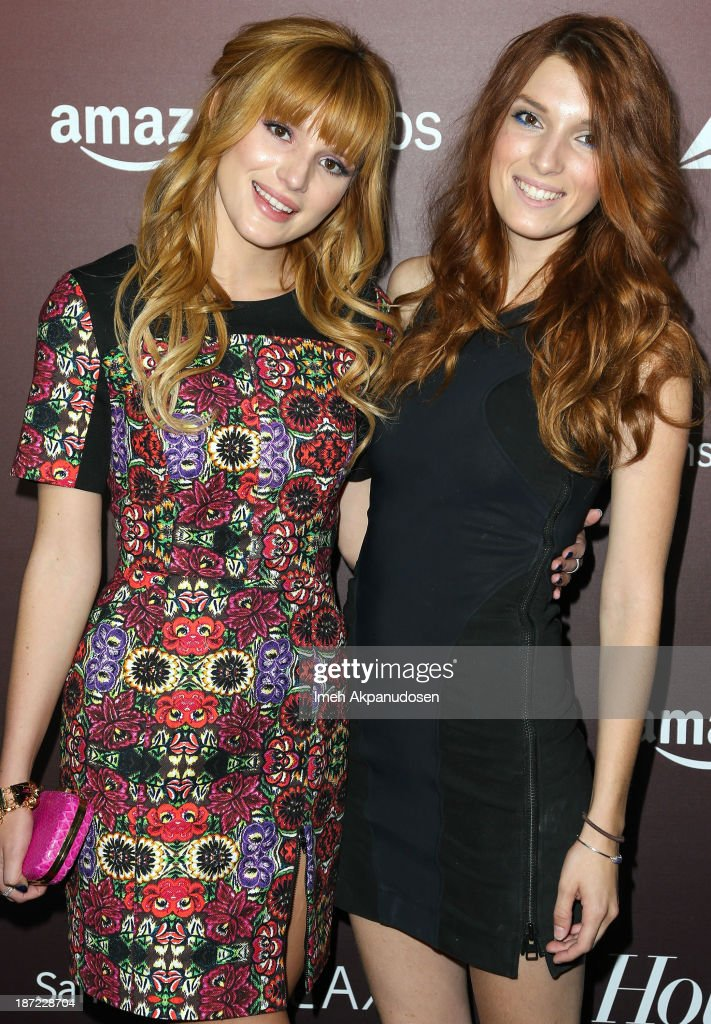 Actress <a gi-track='captionPersonalityLinkClicked' href=/galleries/search?phrase=Bella+Thorne&family=editorial&specificpeople=5083663 ng-click='$event.stopPropagation()'>Bella Thorne</a> (L) and her sister, <a gi-track='captionPersonalityLinkClicked' href=/galleries/search?phrase=Dani+Thorne&family=editorial&specificpeople=5553373 ng-click='$event.stopPropagation()'>Dani Thorne</a>, attend The Hollywood Reporter's 'Next Gen' 20th Anniversary Gala at Hammer Museum on November 6, 2013 in Westwood, California.