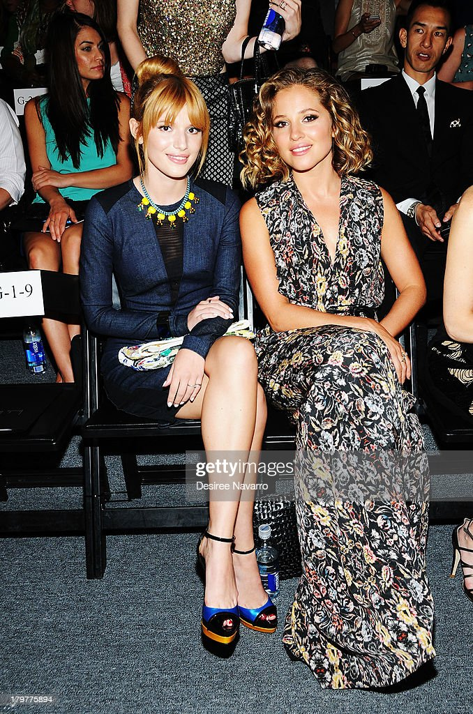 Actress Bella Thorne and Margarita Levieva attend the Nicole Miller show during Spring 2014 Mercedes-Benz Fashion Week at The Studio at Lincoln Center on September 6, 2013 in New York City.