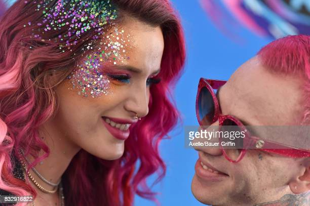 Actress Bella Thorne and musician blackbear aka Mat Musto arrive at the Teen Choice Awards 2017 at Galen Center on August 13 2017 in Los Angeles...