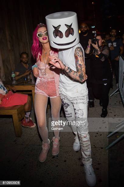 Actress Bella Thorne and musician Blackbear are seen in Irving Plaza on July 8 2017 in New York City
