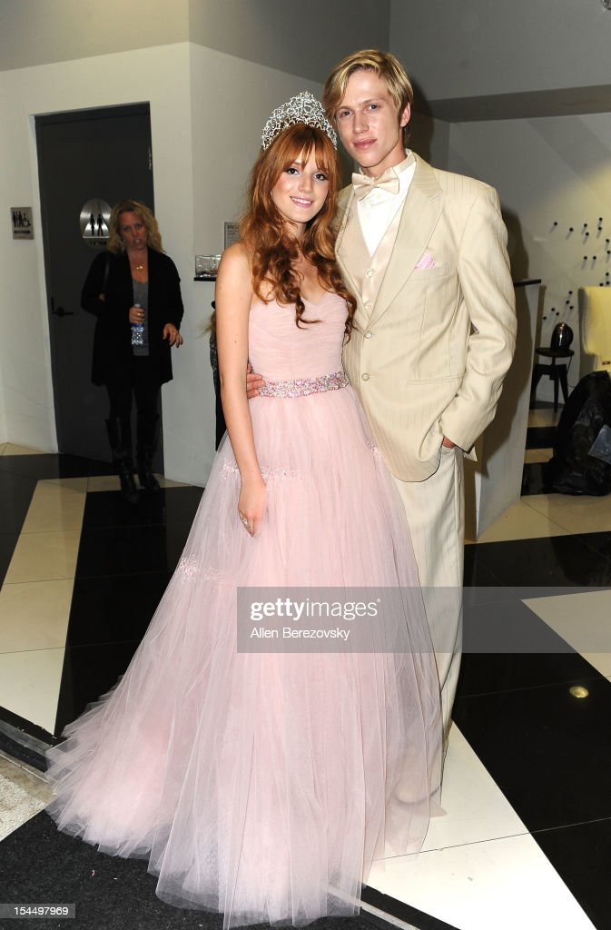 Actress Bella Thorne and Tristan Klier attend Bella Thorne's Quinceanera in honor of her 15th Birthday presented by Hallmark Gold Crown and Text Bands on October 20, 2012 in Hollywood, California.