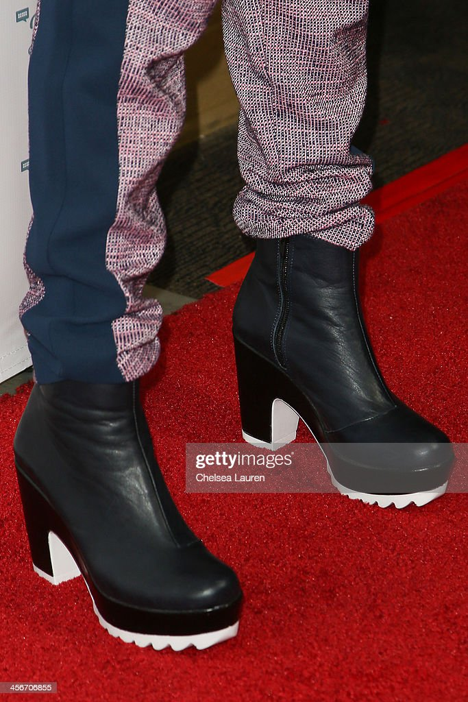 Actress Bella Thorne (shoe detail) arrives at DigiFest LA at Hollywood Palladium on December 14, 2013 in Hollywood, California.