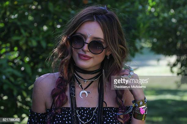 Actress Bella Thorne arrives at REVOLVE Desert House on April 16 2016 in Palm Springs California