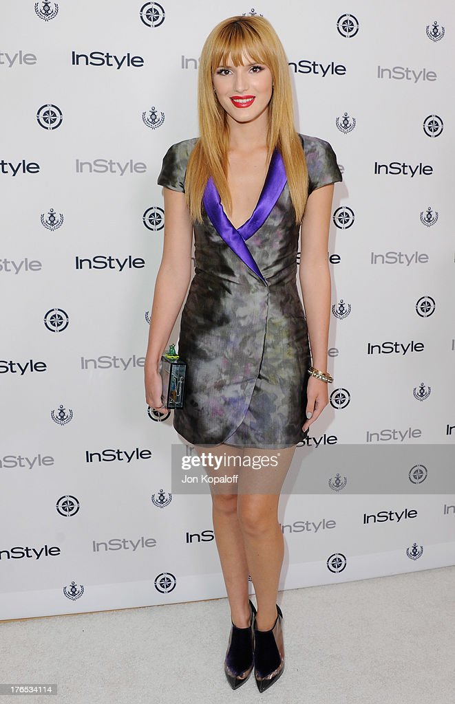 Actress Bella Thorne arrives at the 13th Annual InStyle Summer Soiree at Mondrian Los Angeles on August 14, 2013 in West Hollywood, California.