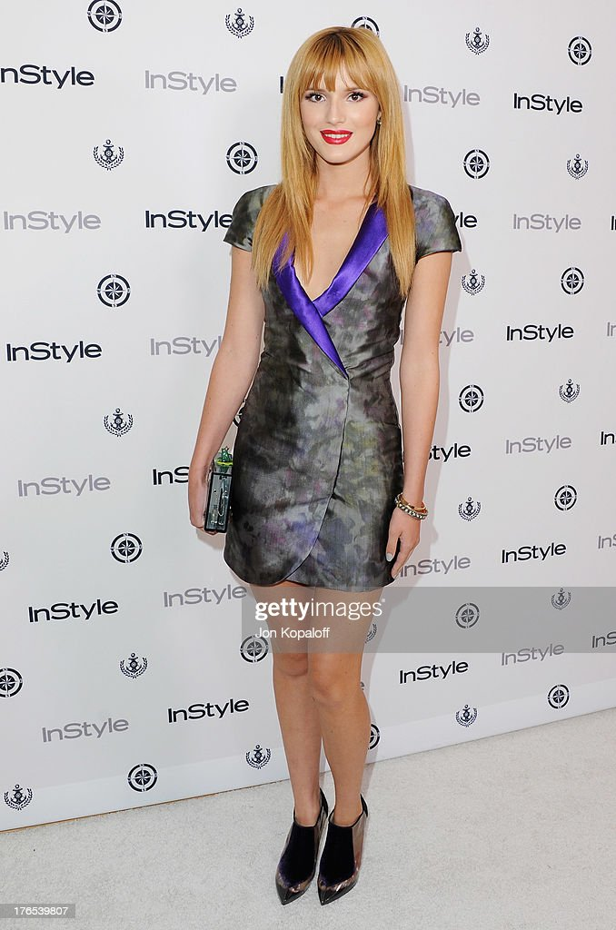 Actress <a gi-track='captionPersonalityLinkClicked' href=/galleries/search?phrase=Bella+Thorne&family=editorial&specificpeople=5083663 ng-click='$event.stopPropagation()'>Bella Thorne</a> arrives at the 13th Annual InStyle Summer Soiree at Mondrian Los Angeles on August 14, 2013 in West Hollywood, California.