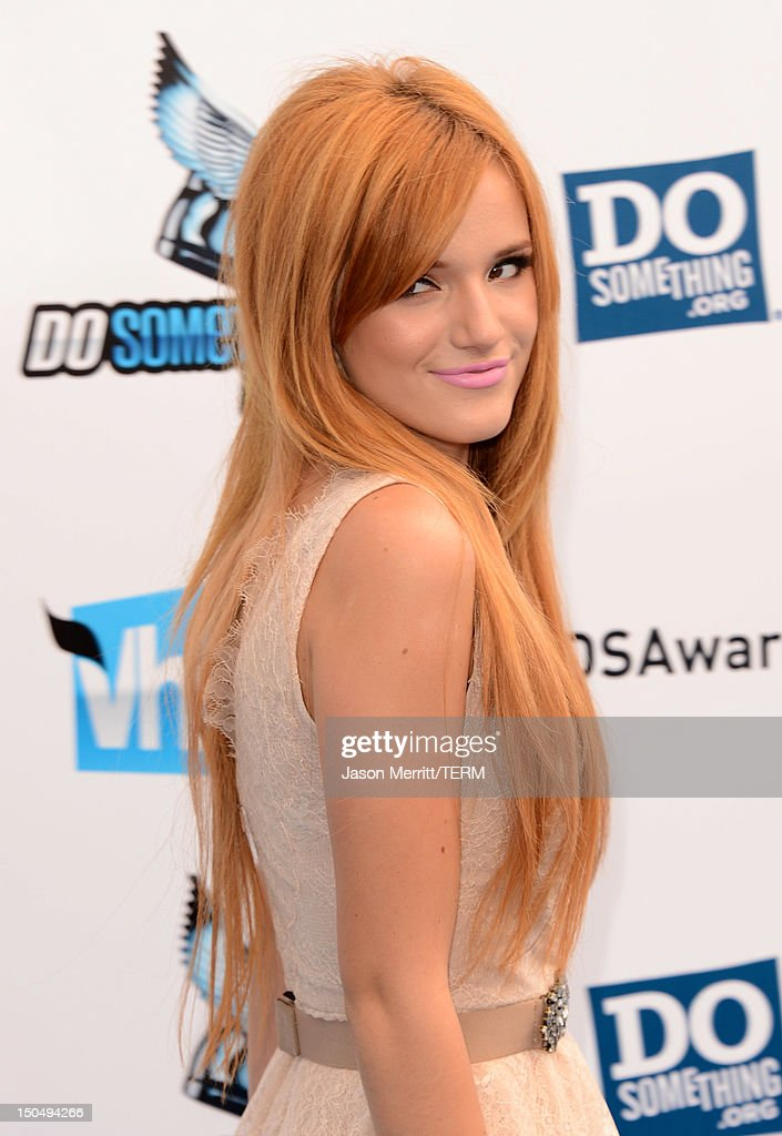 Actress Bella Thorne arrives at the 2012 Do Something Awards at Barker Hangar on August 19, 2012 in Santa Monica, California.