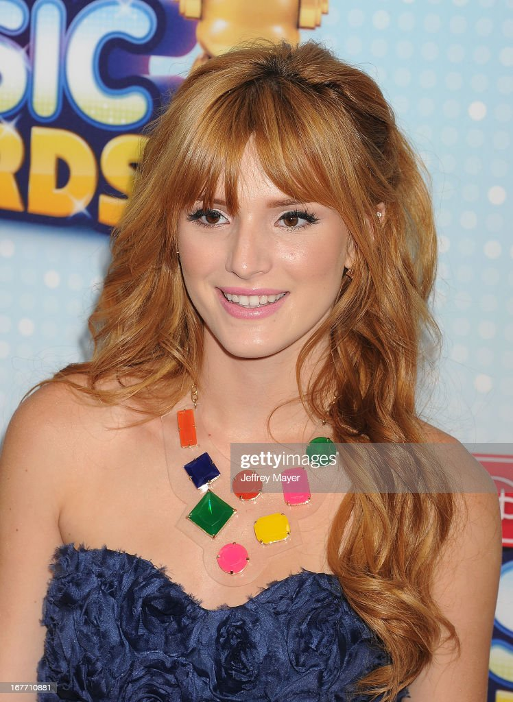 Actress Bella Thorne arrives at the 2013 Radio Disney Music Awards at Nokia Theatre L.A. Live on April 27, 2013 in Los Angeles, California.